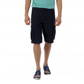 Shoreway II Coolweave Cotton Canvas Shorts Navy