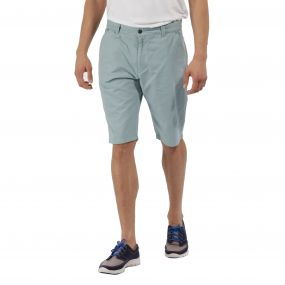 Salvador Coolweave Cotton Twill Short Stone Blue