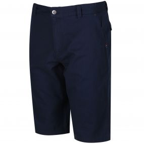 Salvador Coolweave Cotton Twill Short Navy