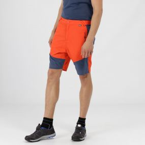 Sungari Lightweight Active Shorts Amber Glow Dark Denim