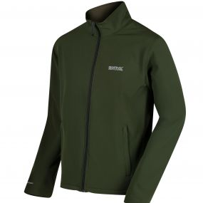 Cera III Funnel Neck SoftShell Jacket Racing Green
