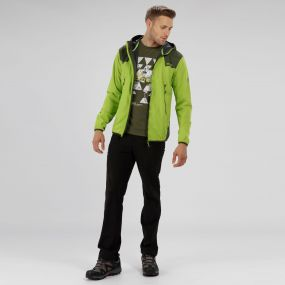 Static IV Lightweight Softshell Jacket Lime Green Racing Green