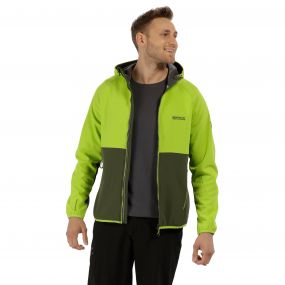 Arec II Hooded SoftShell Jacket Lime Green Seal Grey