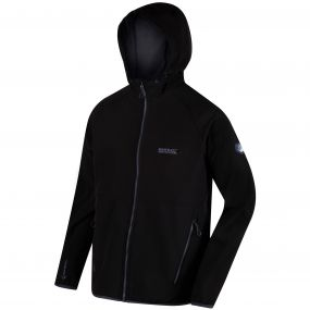 Arec II Hooded SoftShell Jacket Black Seal Grey