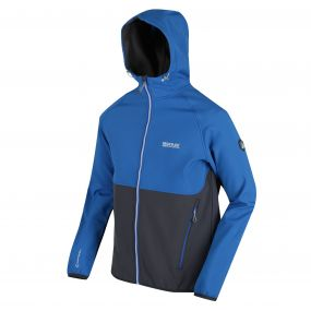Arec II Hooded SoftShell Jacket Oxford Blue Seal Grey
