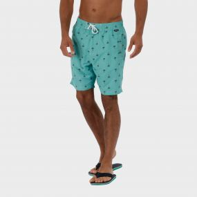 Hadden Board Shorts Oxford Blue White