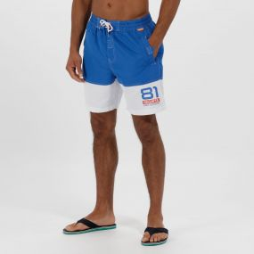 Brachtmar II Swim Shorts Oxford Blue White