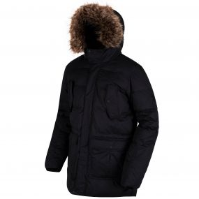 Andram II Down Fill Insulated Parka Jacket Black