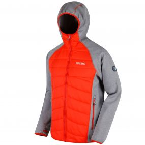 Andreson III Hybrid Stretch Lightweight Insulated Jacket Rock Grey Amber Glow