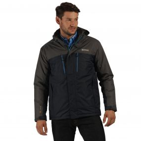 Fabens Waterproof Insulated Jacket Navy Seal Grey