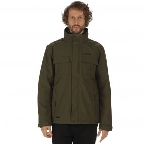 Northton Waterproof 3-in-1 Stretch Jacket Dark Khaki Black Marl