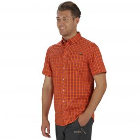 Honshu II Shirt Magma Orange