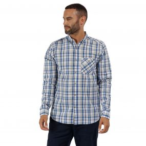 Bacchus Coolweave Long Sleeve Shirt Oxford Blue