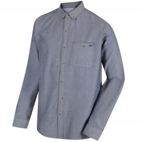 Bacchus Coolweave Long Sleeve Shirt Chambray