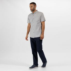 Damaro Coolweave Cotton Shirt Light Steel