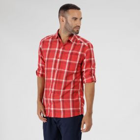 Mindano Checked Long Sleeve Shirt Pepper