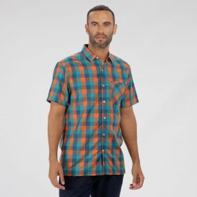 Kalambo III Checked Shirt Moroccan Blue