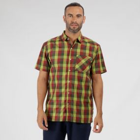 Kalambo III Checked Shirt Lime Green