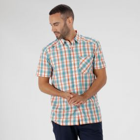 Mindano III Checked Shirt Magma Orange