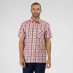 Mindano III Checked Shirt Delhi Red