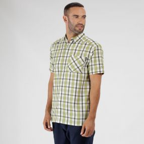 Mindano III Checked Shirt Lime Green