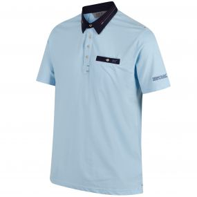Brantley Coolweave Hybrid Cotton Polo Shirt Powder Blue