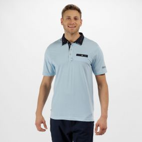 Brantley Coolweave Cotton Polo Shirt Powder Blue