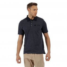 Brantley Coolweave Hybrid Cotton Polo Shirt Navy