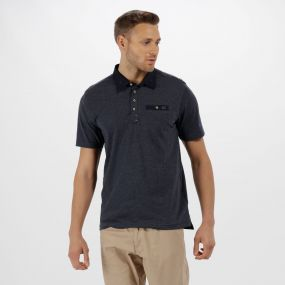 Brantley Coolweave Cotton Polo Shirt Navy