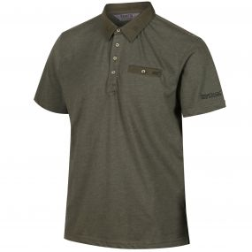 Brantley Coolweave Hybrid Cotton Polo Shirt Ivy Green