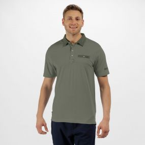 Brantley Coolweave Cotton Polo Shirt Ivy Green