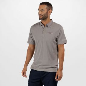 Brantley Coolweave Cotton Polo Shirt Rock Grey
