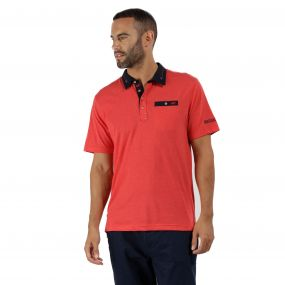 Brantley Coolweave Hybrid Cotton Polo Shirt Pepper