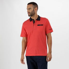 Brantley Coolweave Cotton Polo Shirt Pepper