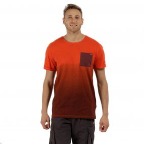 Tyren Coolweave Cotton T-Shirt Warm Mahogany Amber
