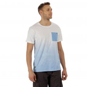 Tyren Coolweave Cotton T-Shirt Powder Blue White