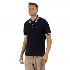 Talcott Coolweave Cotton Polo Shirt Navy