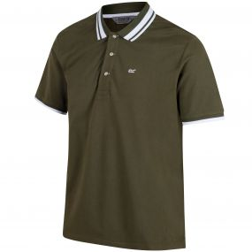 Talcott Coolweave Cotton Polo Shirt Ivy Green