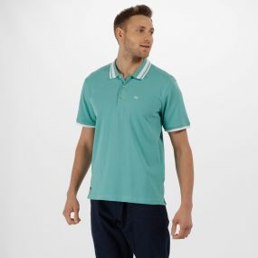 Talcott Coolweave Cotton Polo Shirt Jade Green