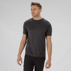 Hyper-Reflective Quick Dry T-Shirt Seal Grey