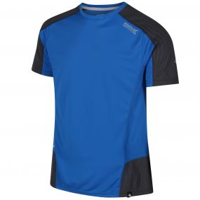 Hyper-Reflective Quick Dry T-Shirt Oxford Blue Seal Grey