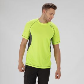 Volito III Ultra lightweight T-Shirt Fluro Yellow Seal Grey