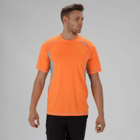 Volito III Ultra Lightweight T-Shirt Shocking Orange Atoll Blue