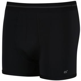 Men's 3 Pack Performance Boxer Shorts Black-Black-Black
