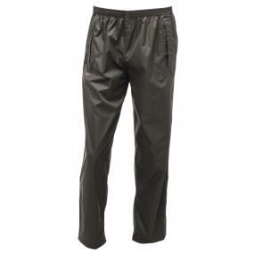 Men's Pack It Breathable Waterproof Overtrousers Bayleaf