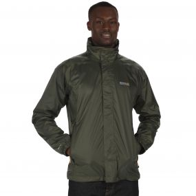 Magnitude IV Waterproof Shell Jacket with Concealed Hood Olive Night