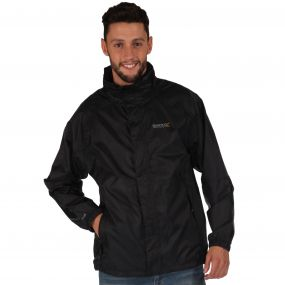Magnitude IV Waterproof Shell Jacket with Concealed Hood Black
