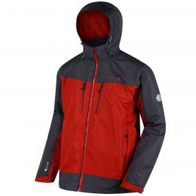 Calderdale II Waterproof Shell Jacket Burnt Tikka Seal Grey