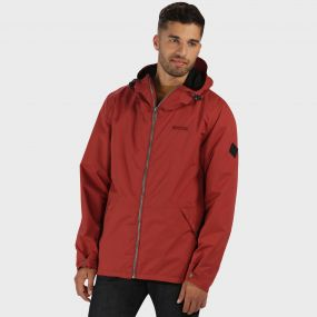Harlan Lightweight Waterproof Hooded Jacket Cowhide Red