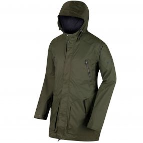 Manford Hooded Waterproof Jacket Ivy Green